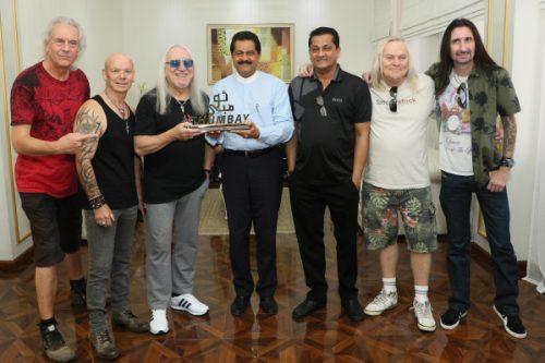 Legendary British Band Uriah Heep Visits Gulf Medical University Prior to Dubai Live Show