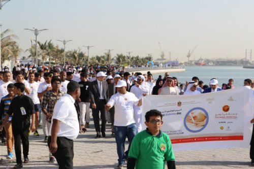 Thumbay Hospital Ajman Marks World Diabetes Day with Walkathon for Diabetes Awareness