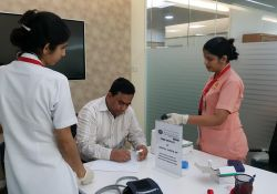 Health Camp at Ajman Bank