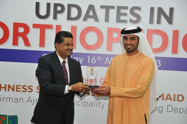 H H Sheikh Rashid Bin Humaid Al Nuaimi Honours Leading Orthopedic