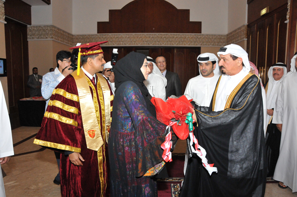 HIS HIGHNESS SHEIKH HUMAID BIN RASHID AL NUAIMI CONFERS DEGREES ON 92 GULF MEDICAL UNIVERSITY GRADUATES13 (1)