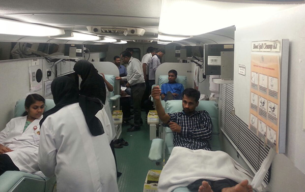 Blood Donation Camp at GMC Hospital, Fujairah.