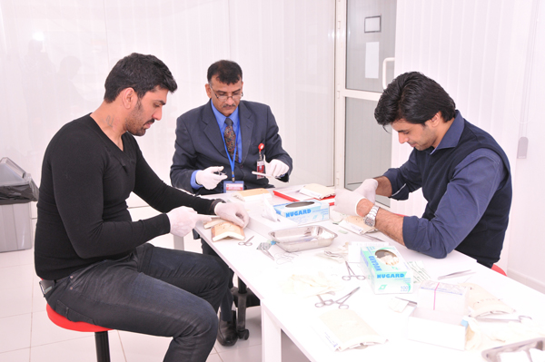 The Center for Advanced Simulation in Healthcare (CASH) at Gulf Medical University (GMU), Ajman conducted a day long Basic Surgical Skills Workshop