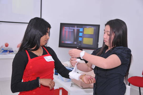A full day American Heart Association-Accredited course on Heart Saver First Aid, CPR and AED was conducted for the staff of Tender Moments Nursery, Sharjah at the Center for Advanced Simulation In Health care Center for Advanced Simulation in Healthcare - C.A.S.H at Gulf Medical University Ajman on 30th March 2014.
