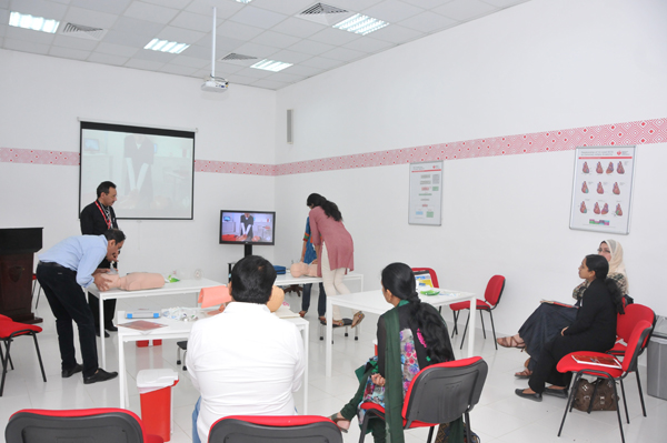 C.A.S.H conducted its first Advanced Cardiovascular Life Support (ACLS) Course on 17th and 18th February 2014. The course was led by Dr. Ehab M. Esheiba and Dr. Sona Chaturvedi under the Supervision/Inspection of Mr. Marius Oliver (AHA International Training Center Coordinator)