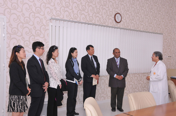 TAIWAN MINISTRY OF HEALTH OFFICIALS VISIT GULF MEDICAL UNIVERSITY