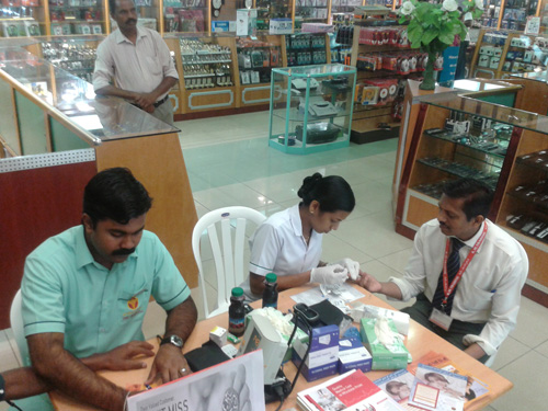 Free Health Checkup Camp for K M  Trading customers held by